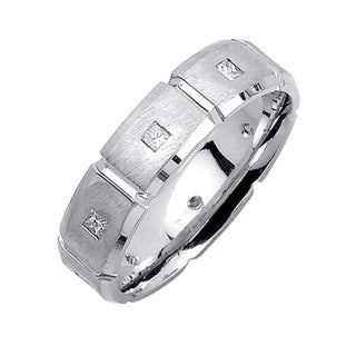 14k White Gold Men's 2/5ct TDW Diamond Wedding Band