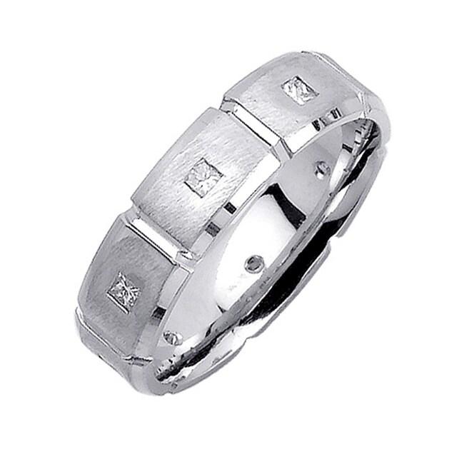 14k White Gold Men's 2/5ct TDW Diamond Wedding Band (G-H, SI1-SI2)