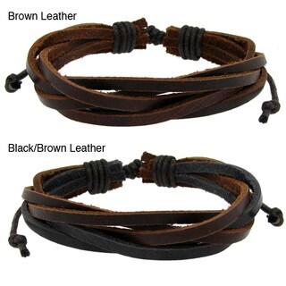 Genuine Leather Multi-layered Adjustable Bracelet