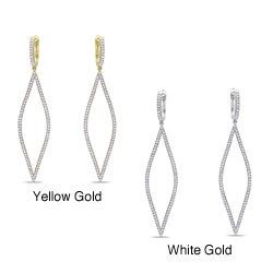 Miadora Signature Collection 14k Gold 3/4ct TDW Diamond Dangle Earrings (G-H, SI1-SI2)