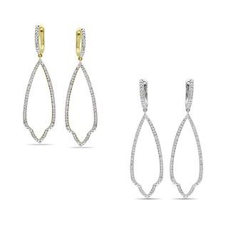 Miadora 14k Gold 1/10ct TDW Diamond Dangle Earrings