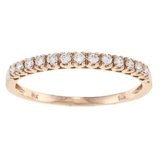 Victoria Kay 14k Gold 1/5ct TDW Round-cut White Diamond Band