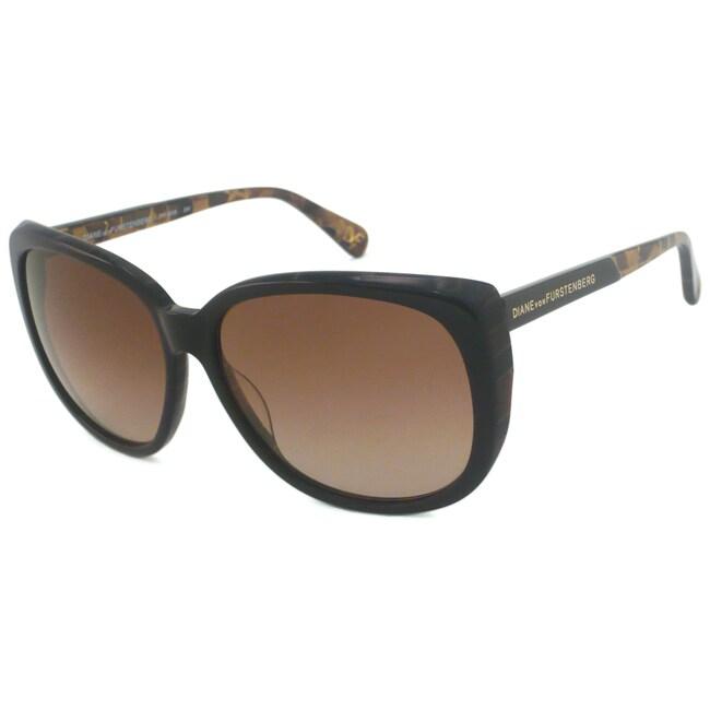 Diane Von Furstenberg Women's DVF526S Rectangular Sunglasses