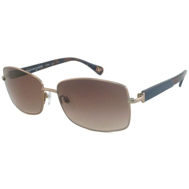 Diane Von Furstenberg Women's DVF803S Rectangular Sunglasses