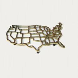United States Map Trivet