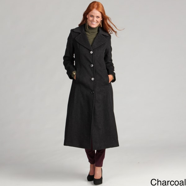 Anne Klein Women's Button Front Wool Coat
