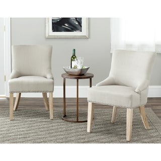 Safavieh En Vogue Dining Loire Biscuit Beige Polyester Dining Chairs (Set of 2)
