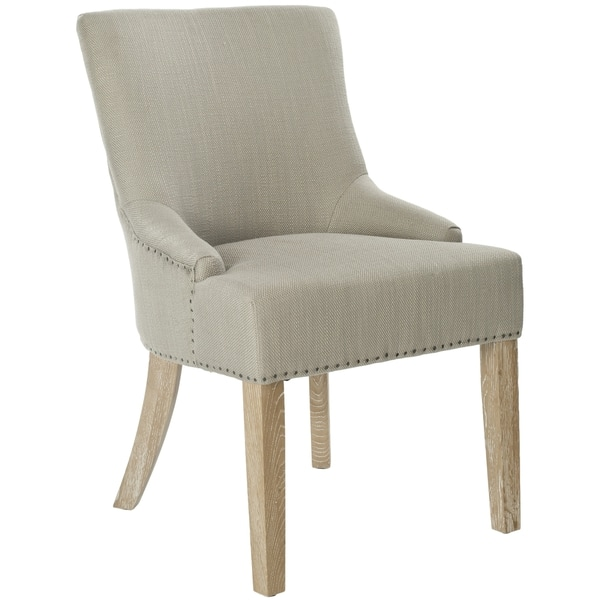 Safavieh En Vogue Dining Loire Biscuit Beige Polyester Dining Chairs Set Of 2 21 7 X25 2 X34 6 Overstock 6793842
