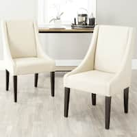 Safavieh En Vogue Dining Sloping Arm Chairs Cream Dining Chairs (Set of 2)