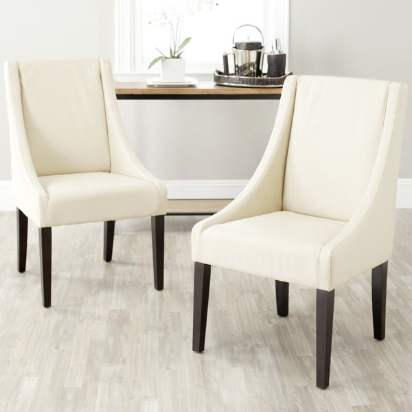 Shop Safavieh En Vogue Dining Sloping Arm Chairs Cream