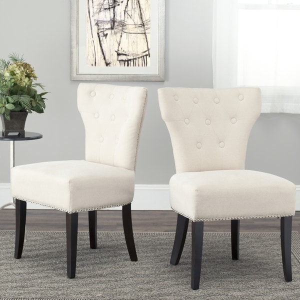 Safavieh En Vogue Dining Gramercy Cream Side Chairs (Set of 2)