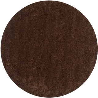Safavieh California Cozy Solid Brown Shag Rug (4' Round)