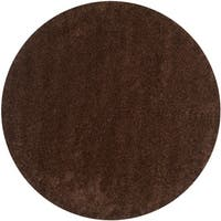 Safavieh California Cozy Plush Brown Shag Rug - 4' x 4' Round