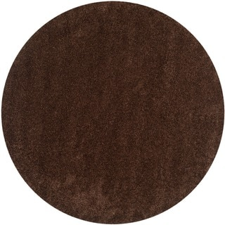 Safavieh California Cozy Plush Brown Shag Rug (6'7 Round)