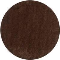 "Safavieh California Cozy Plush Brown Shag Rug - 6'7"" x 6'7"" round"