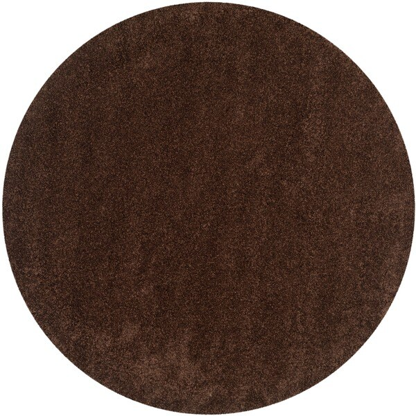Safavieh California Cozy Plush Brown Shag Rug (6'7 Round)
