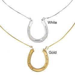 White Trash Charms Sterling Silver Horseshoe Necklace