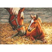 """Gold Collection Petite Good Morning Counted Cross Stitch Kit-7""""X5"""" 18 Count"""