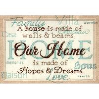 "Home Mini Counted Cross Stitch Kit-7""X5"" 14 Count"