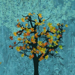 """Ankan Tree Falling 2 36"""" x 36"""" x 1.5"""" Gallery-Wrapped Canvas Art"""