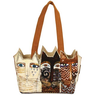 "Medium Tote Zipper Top 14-1/2""X4""X8""-Ancestral Cats"