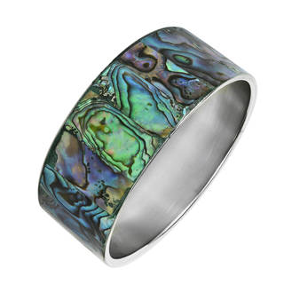 Link to Handmade Green Shadows Abalone Shell Bangle Bracelet (Philippines) Similar Items in Bracelets