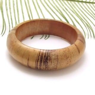 Handmade Native Charm Brown Wood Bracelet (Philippines)