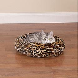 Slumber Pet Cheetah Cozy Kitty Bed