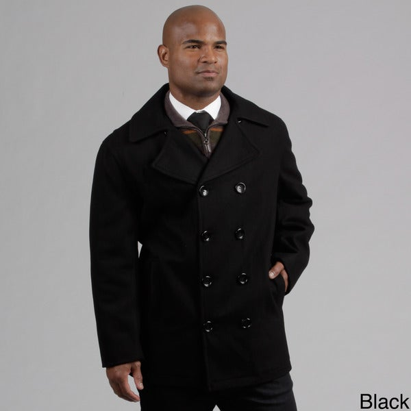 London Fog Men's Wool Blend Peacoat