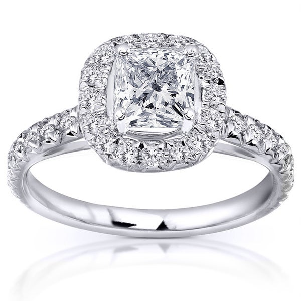 Annello 14k White Gold 1 2/5ct TDW Diamond Engagement Ring