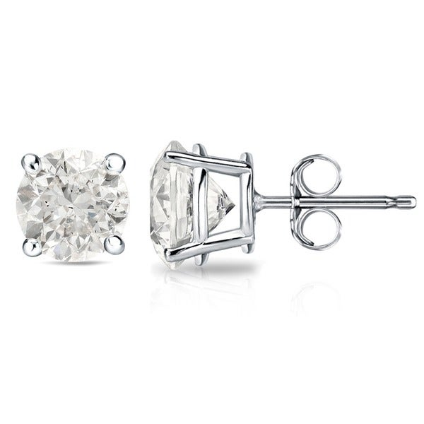 14k Gold 1 1/2ct or 2ct TDW Round Diamond Stud Earrings (J-K, I2-I3)