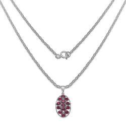Malaika Sterling Silver 4 7/10ct Gemstone Pendant - Thumbnail 1