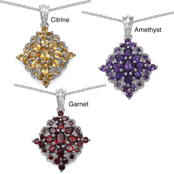Malaika Sterling Silver Gemstone Necklace