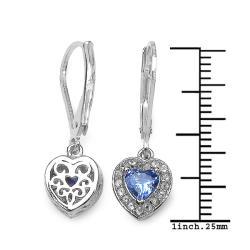 Malaika Sterling Silver 1 1/3ct TGW Tanzanite and White Topaz Earrings