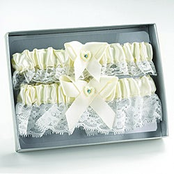 Ivory Heart Keep/ Throw Garter Set