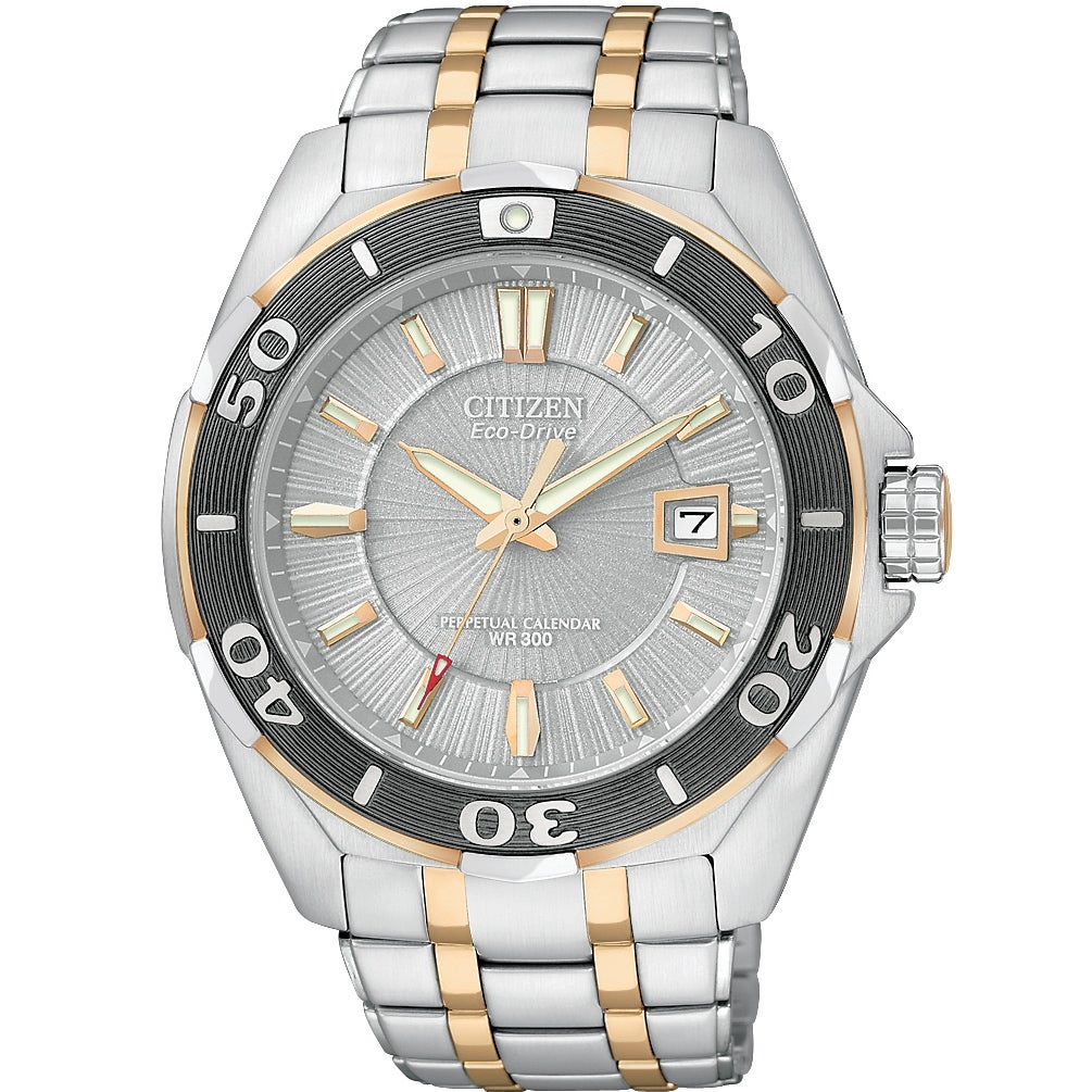 Citizen Men's Eco-Drive BL1254-54A Silver Stainless-Steel Eco-Drive Watch