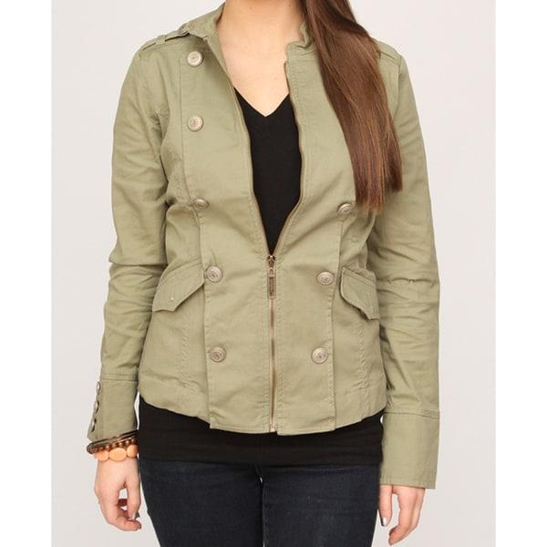 Jou Jou Juniors Olive Military Jacket