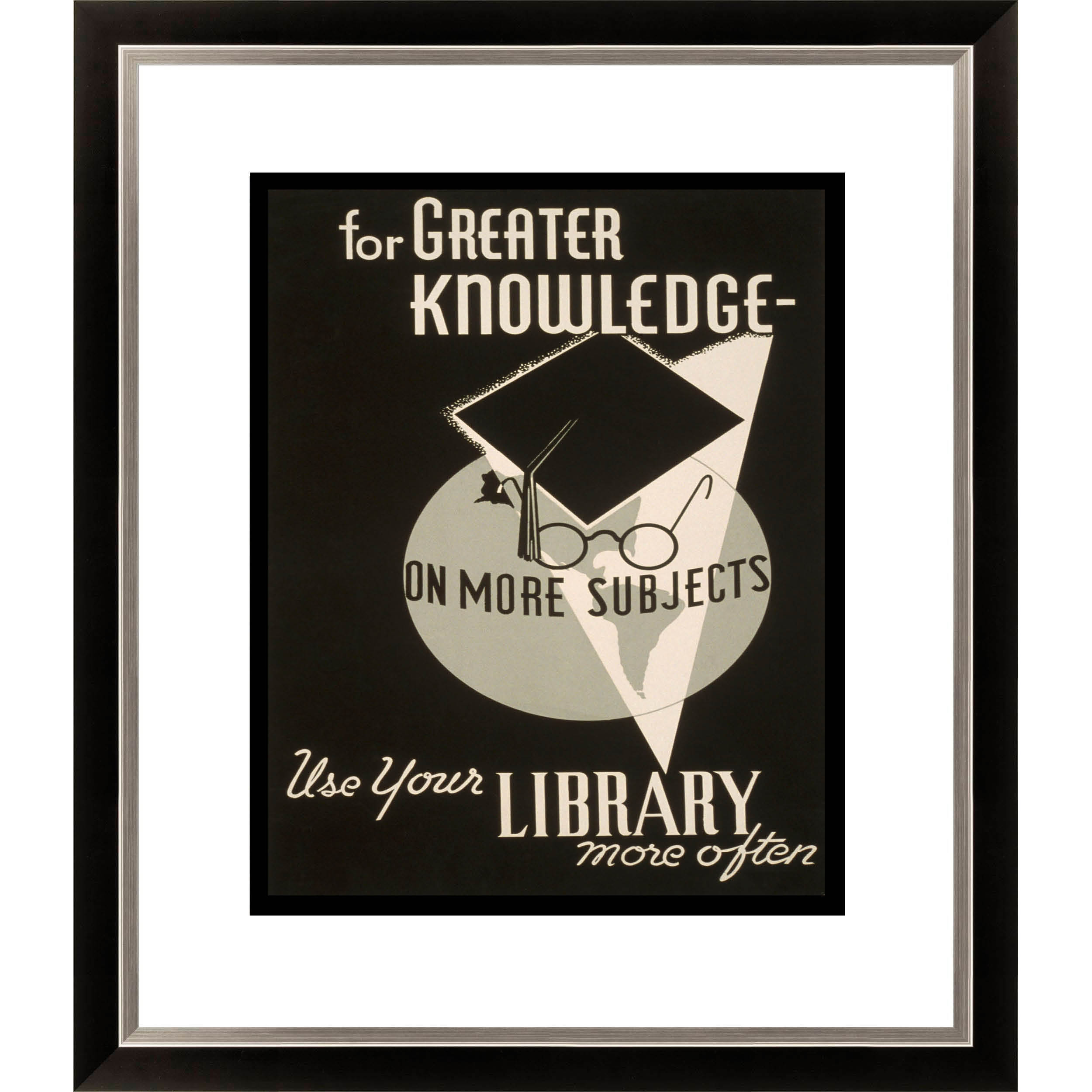 Gallery Direct For Greater Knowledge on More Subjects Use Your Library Framed Limited Edition Giclee Art