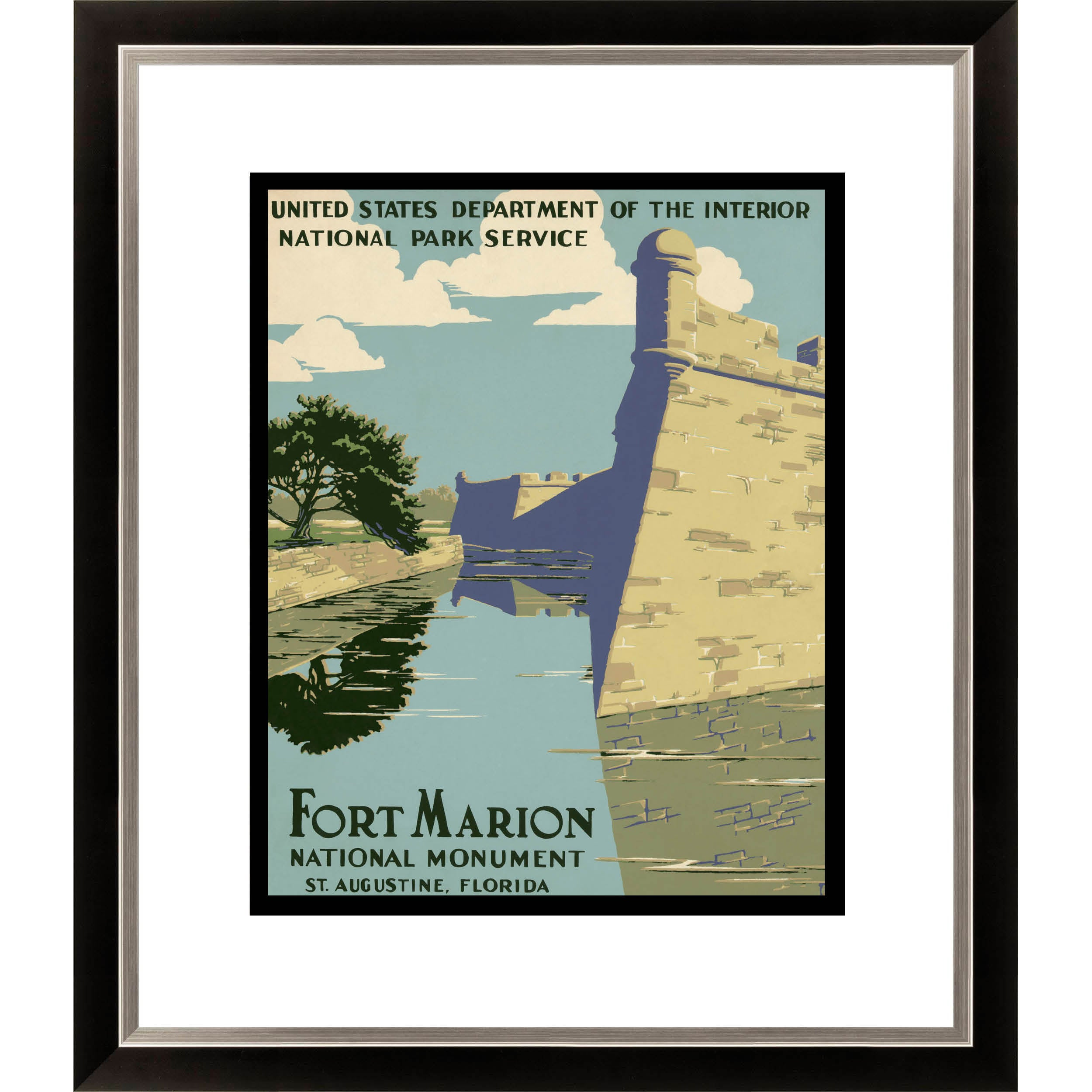 Gallery Direct Fort Marion National Monument St. Augustine Florida Framed Limited Edition Giclee Art