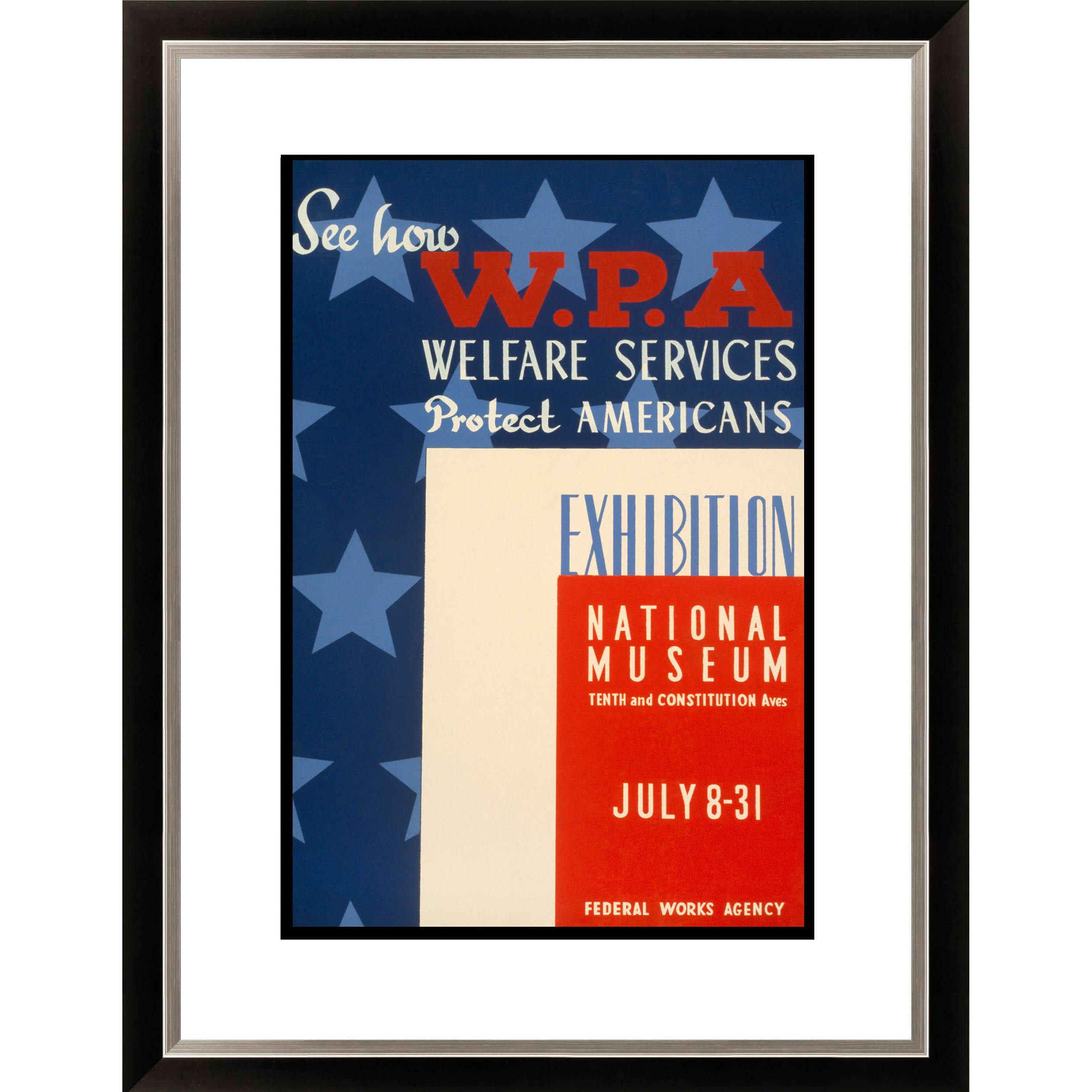 Gallery Direct See How WPA Welfare Services Protect Americans Exhibition Nation Framed Limited Edition Giclee Art