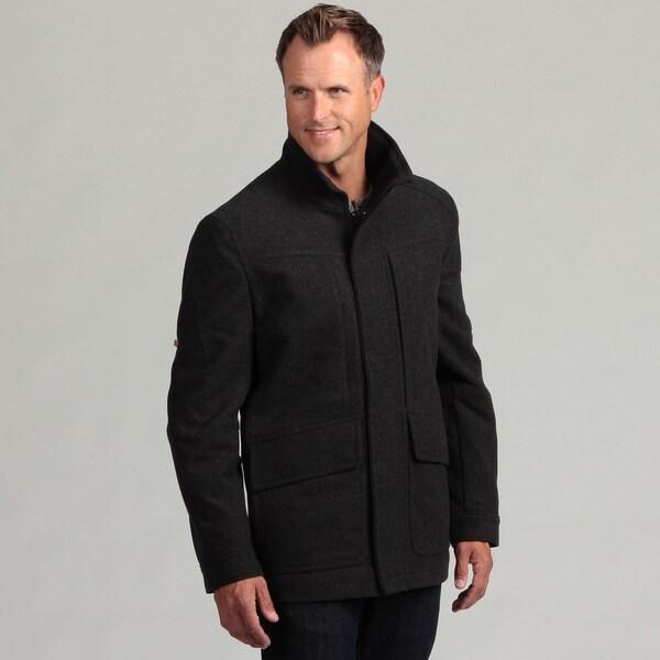 Izod Men's Wool Zip-front Coat