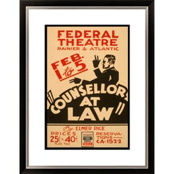 Gallery Direct Elmer Rice 'Counsellor at Law' Framed Limited Edition Giclee Art