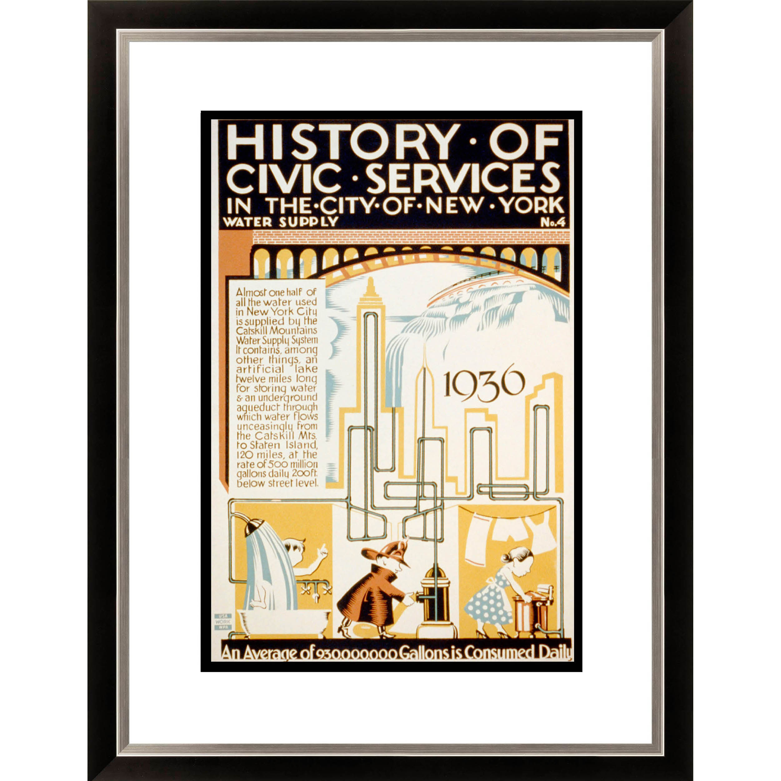 Gallery Direct History of Civic Services in the City of New York Framed Limited Edition Giclee Art