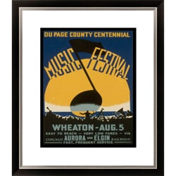 Gallery Direct Du Page County Centennial Music Festival Framed Limited Edition Giclee Art