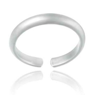 Mondevio Woman's Sterling Silver/Gold-overlay High-polished Toe Ring