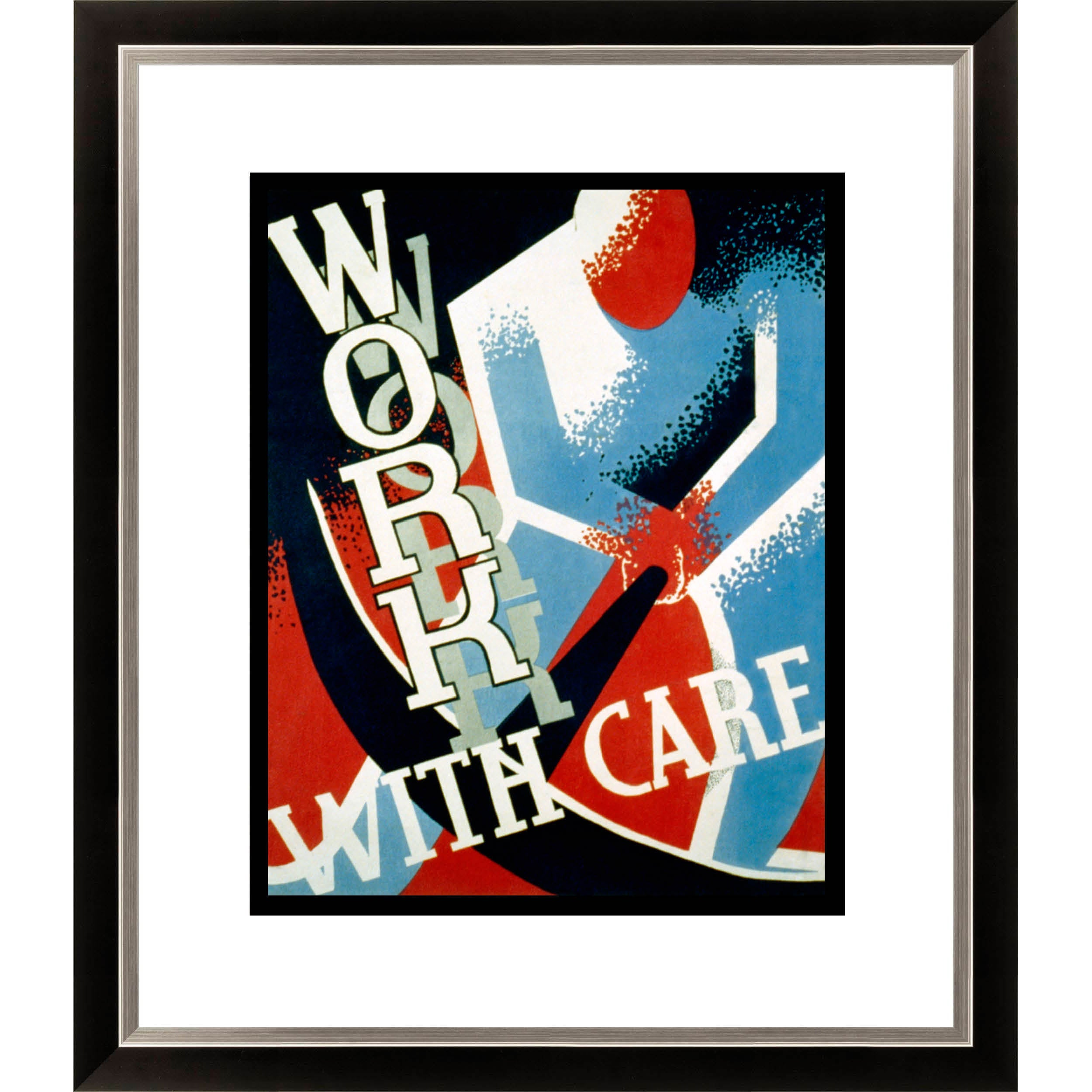 Gallery Direct 'Work with Care' Framed Limited Edition Giclee