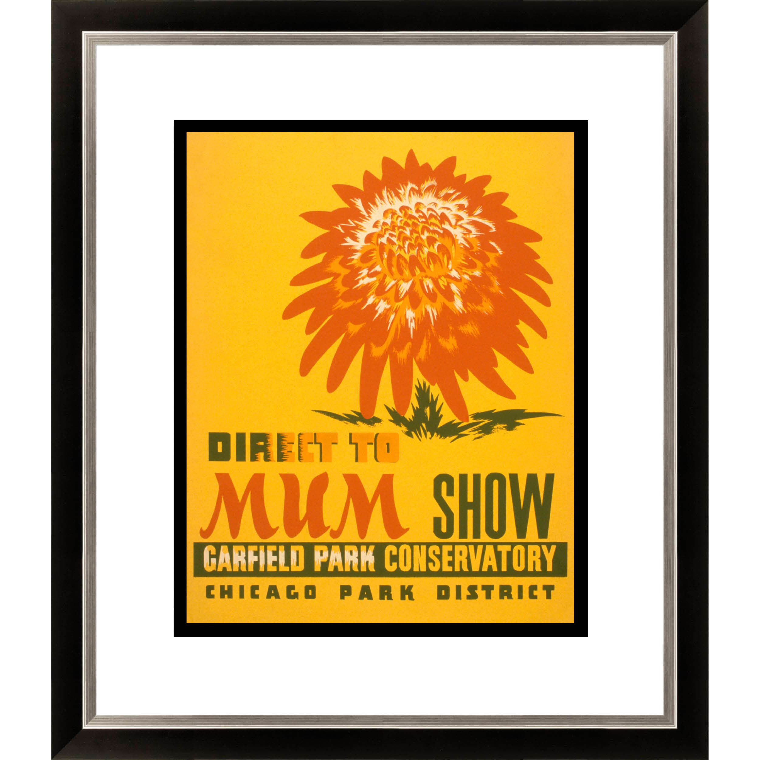 Gallery Direct Direct to Mum Show Garfield Park Conservatory Framed Limited Edition Giclee Art