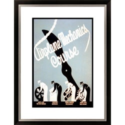 Gallery Direct Airplane Mechanics Course Framed Limited Edition Giclee Art