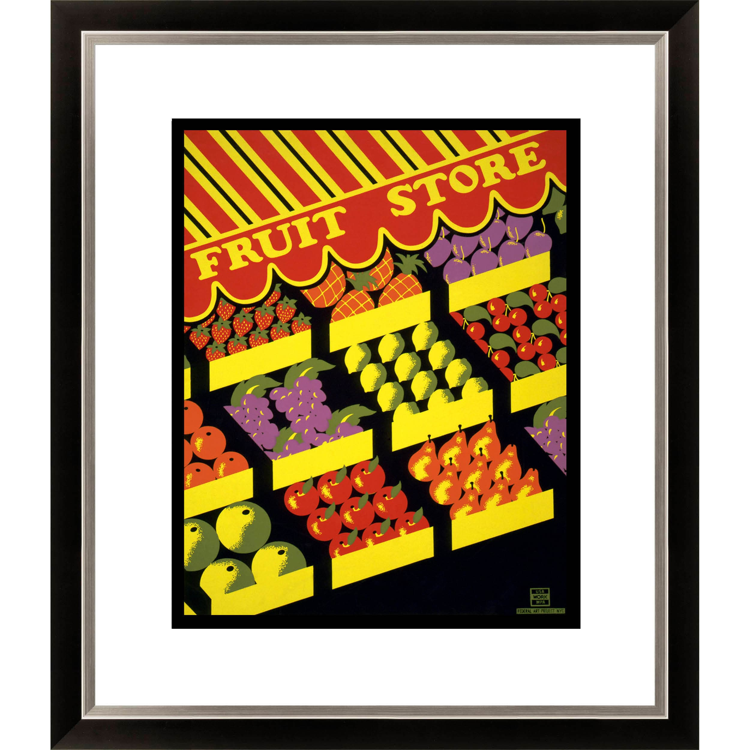 Gallery Direct Fruit Store Framed Limited Edition Giclee Art - Thumbnail 0