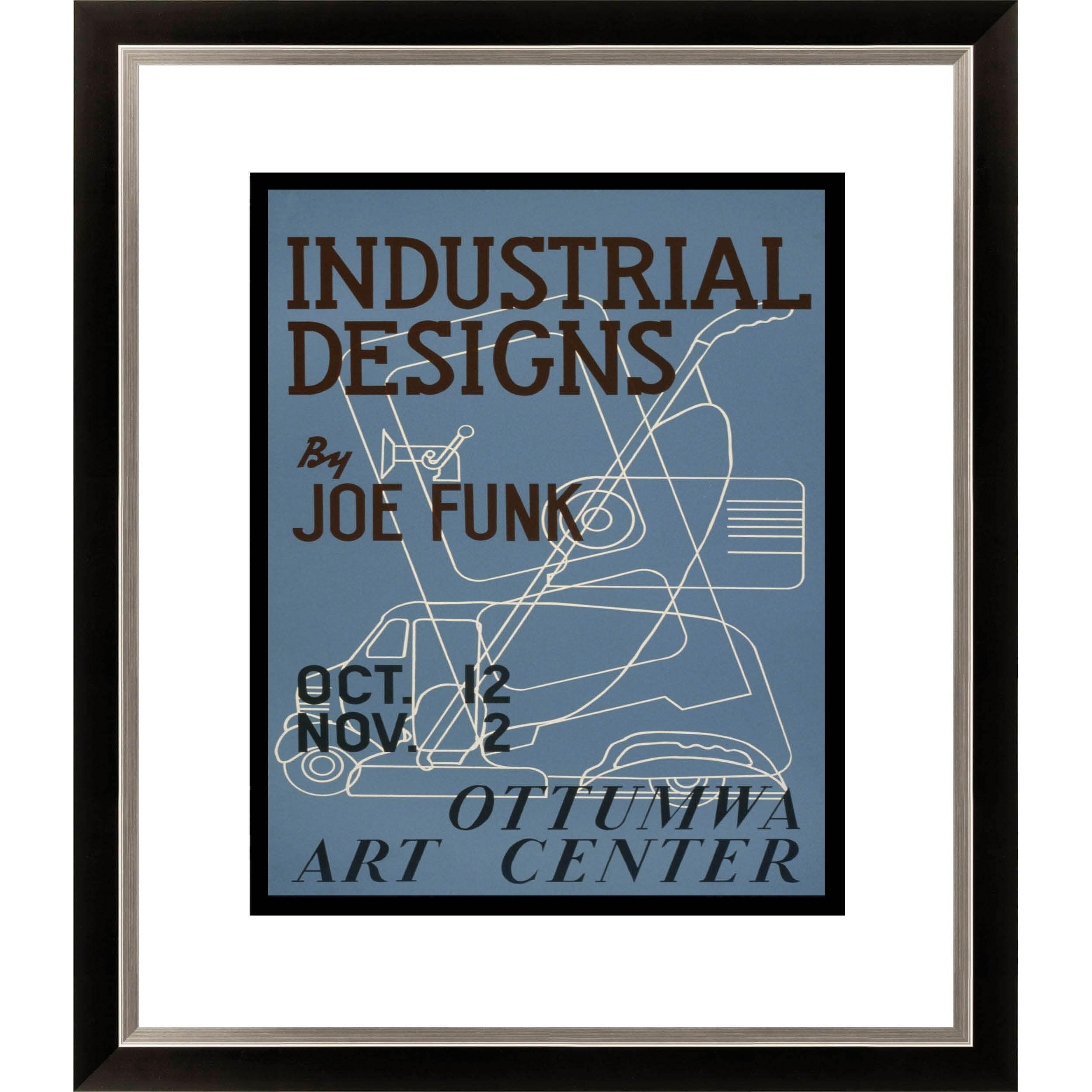 Gallery Direct Joe Funk 'Industrial Designs' Ottumwa Art Center Framed Limited Edition Giclee Art